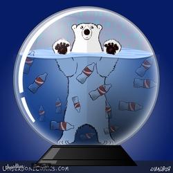 Snowglobe of the Future with a Polar Bear