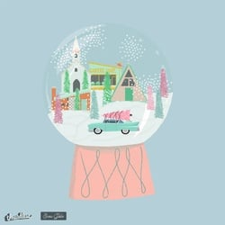Putz House Village Snow Globe