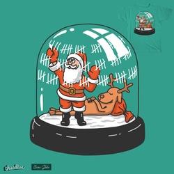 santa in the ball