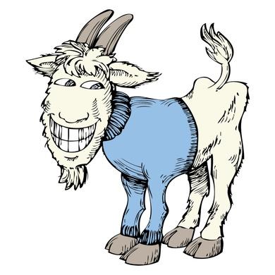 Goat wearing T shirt