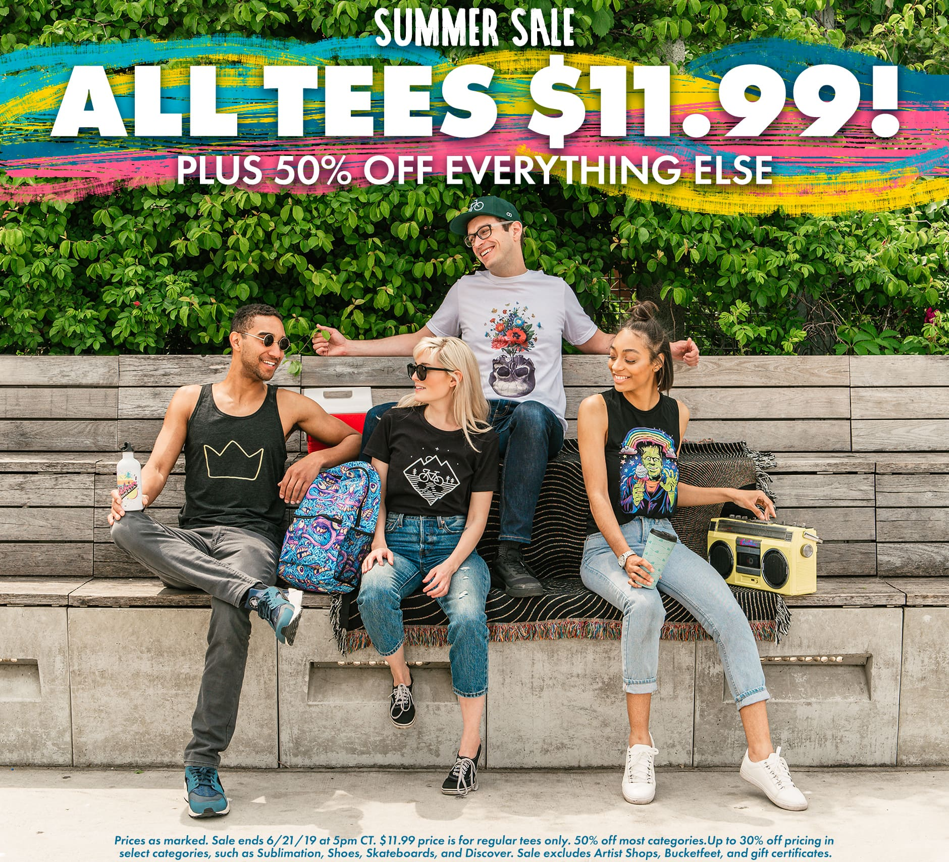 Shop the Threadless Summer Sale! $11.99 Tees plus up to 50% off Sitewide!