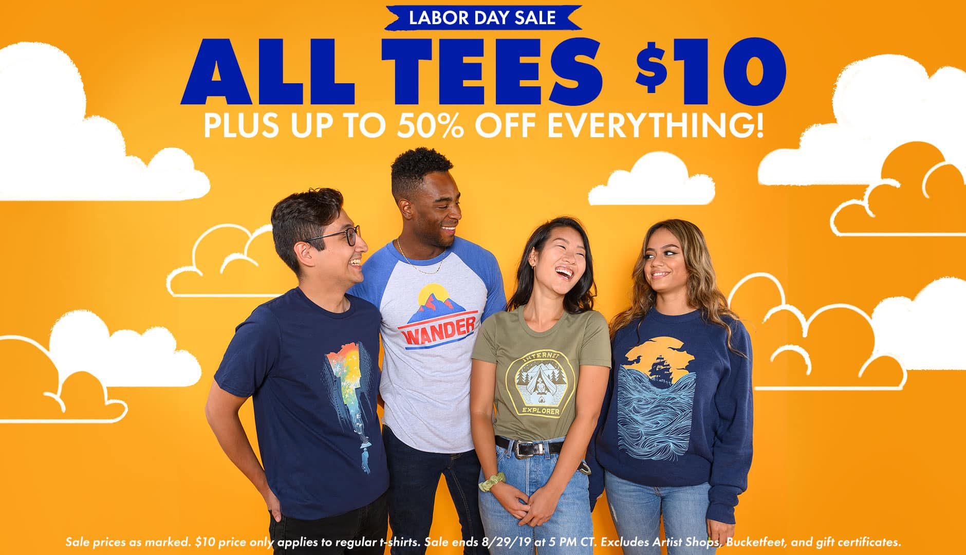 Shop the Threadless Labor Day Sale! $10 Regular Tees plus up to 50% off everything else!