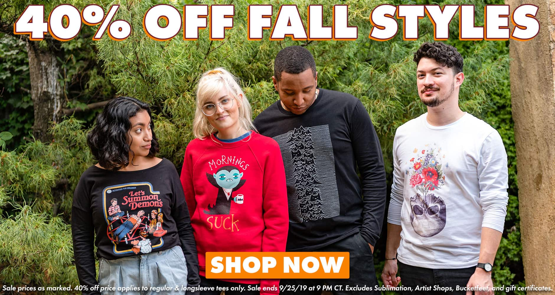 Shop 40% off Fall Categories