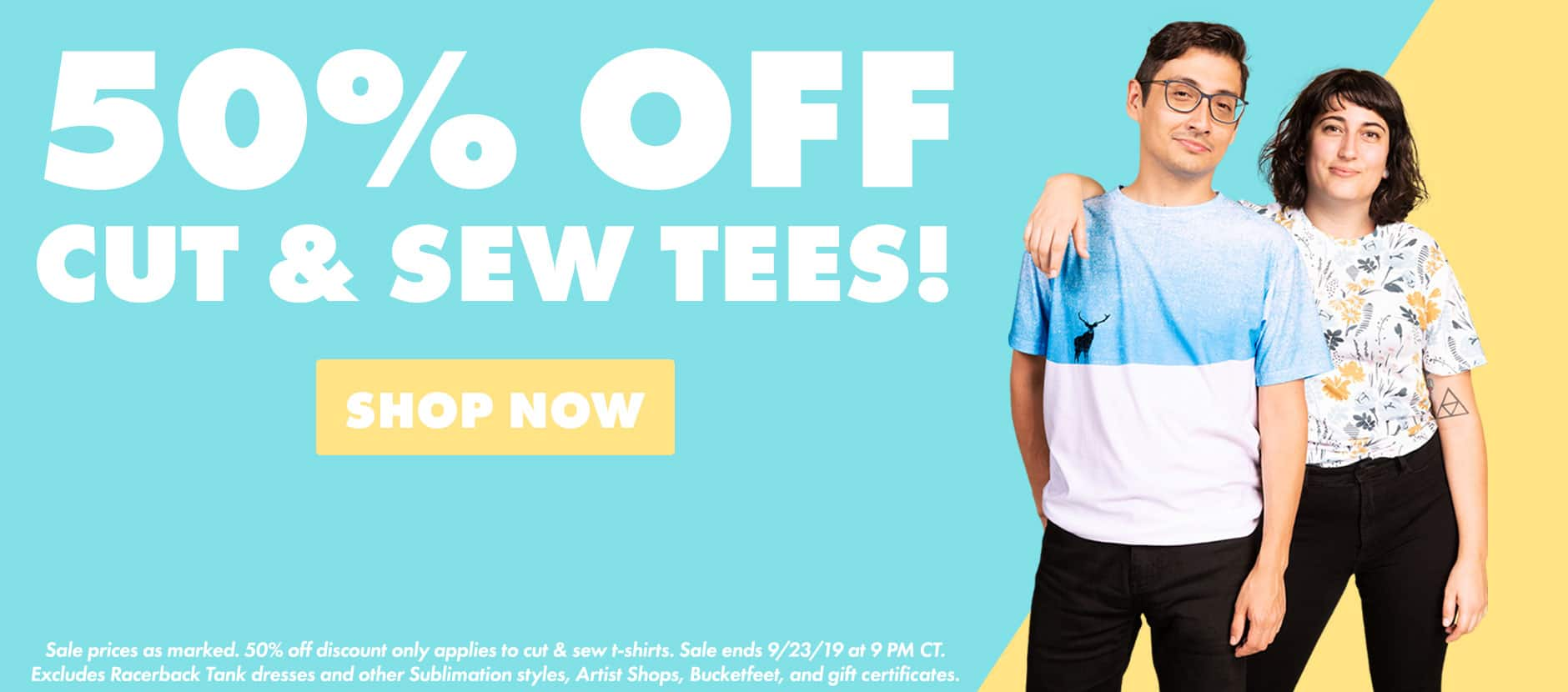 Shop 50% off Cut & Sew Tees