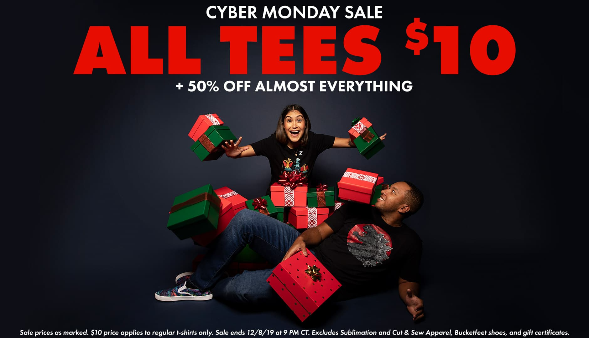 Shop Cyber Monday $10 Tees!