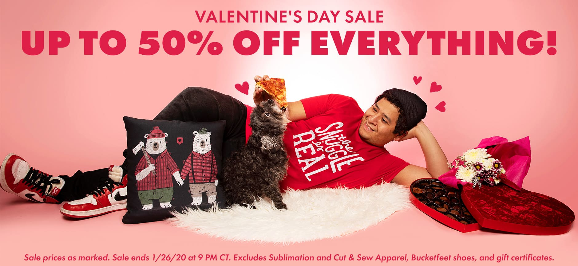Shop the Threadless Valentine's Day Sale, up to 50% off EVERYTHING!