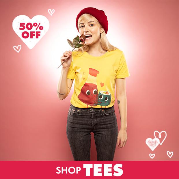 Shop 50% off Tees!