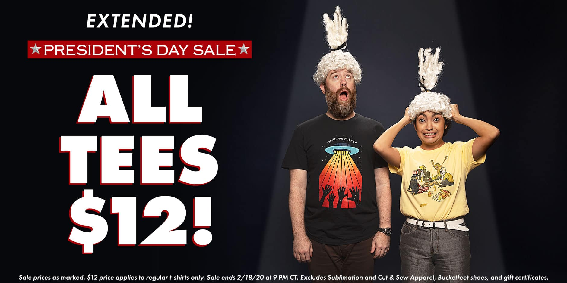 Shop the Threadless President's Day Sale, ALL Tees $12 plus up to 40% off Everything Else!