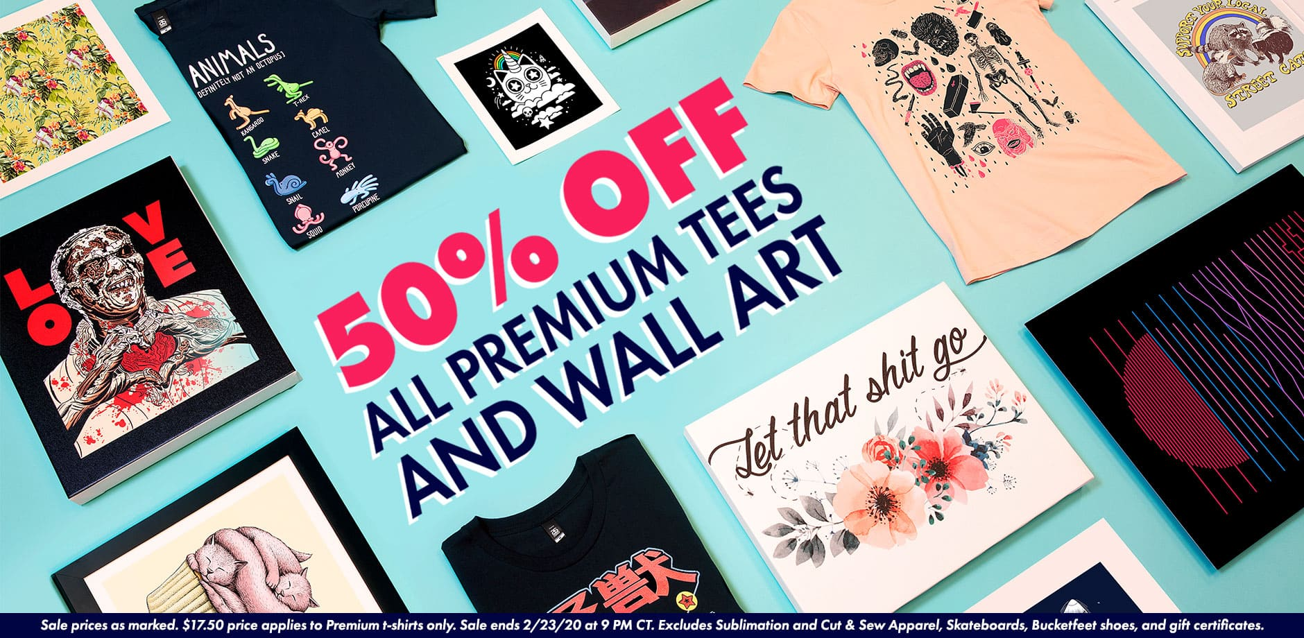 Shop 50% off Premium Tees and All Wall Art in the Threadless Marketplace