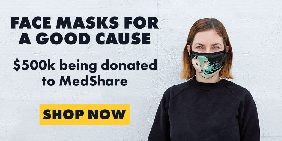 Shop Face Masks on Threadless, with proceeds going to MedShare