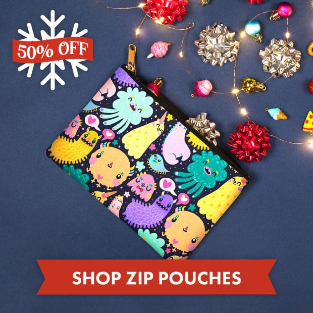 Save big on Zip Pouches with our Black Friday sale at Threadless!