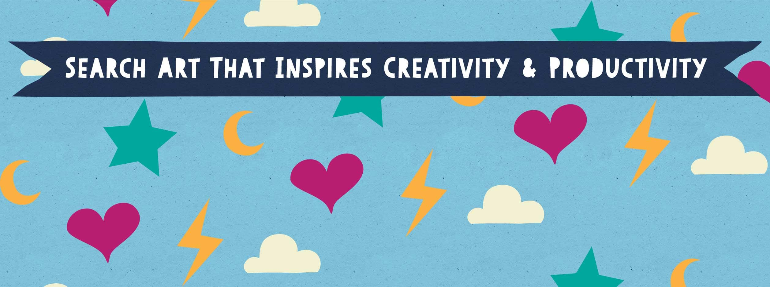 Search art that inspires creativity and productivity