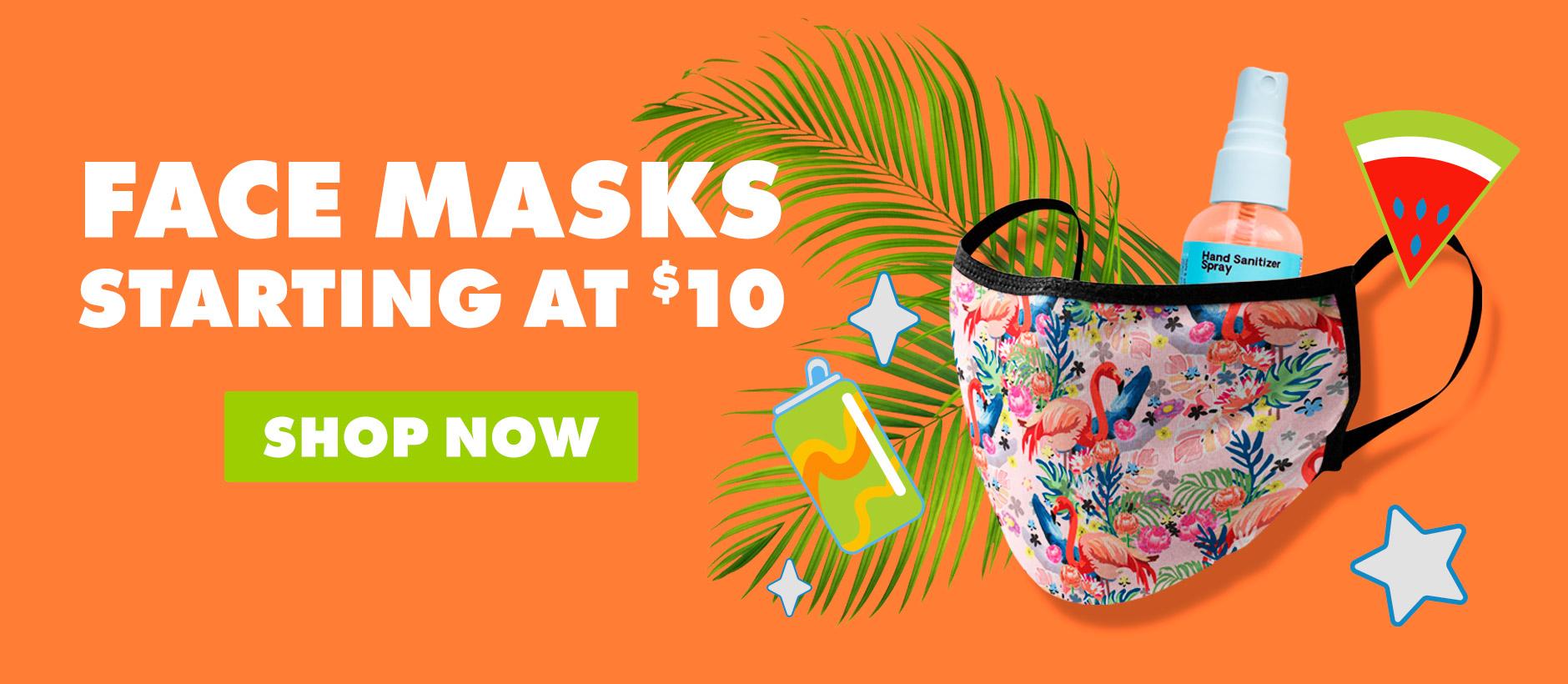 Shop Face Masks starting at $10