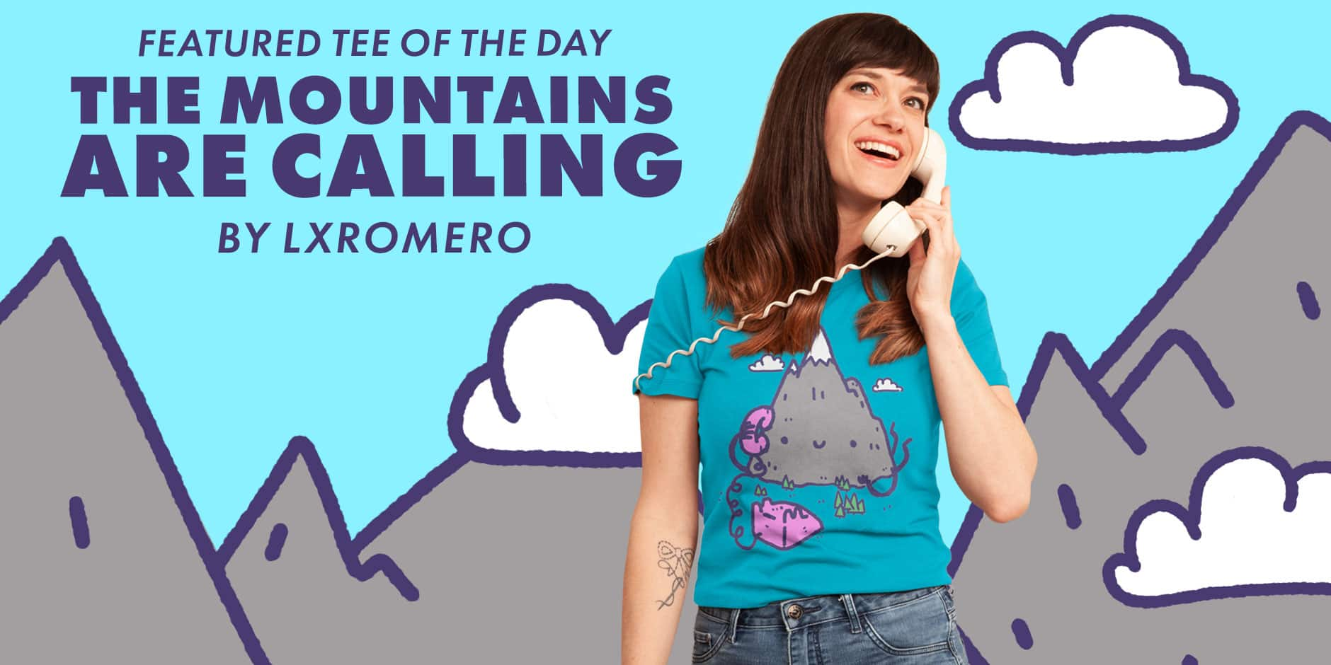 Featured Design: THE MOUNTAINS ARE CALLING by lxromero