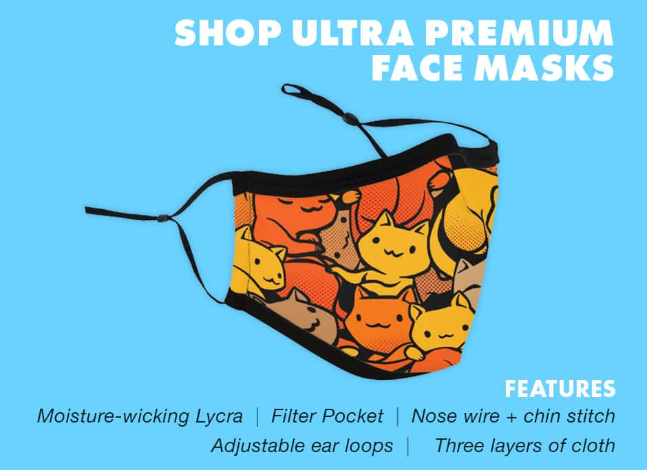 Shop Ultra Premium Face Masks at Threadless