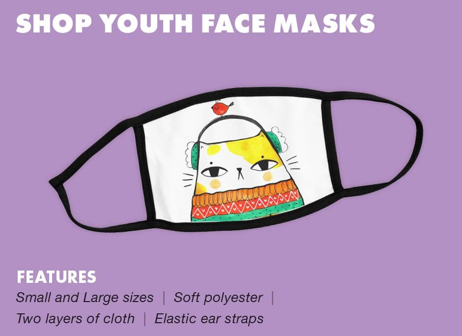 Shop Youth Face Masks at Threadless