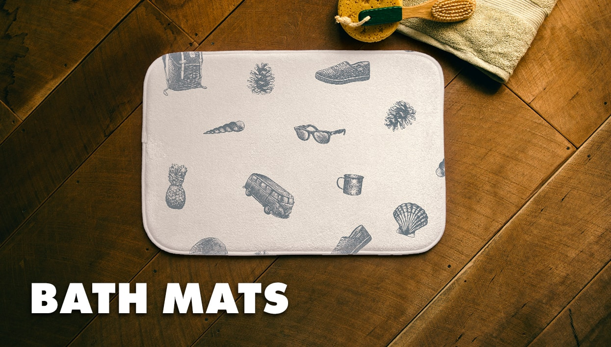 t shirts and apparel featuring threadless artist community designs bath mats