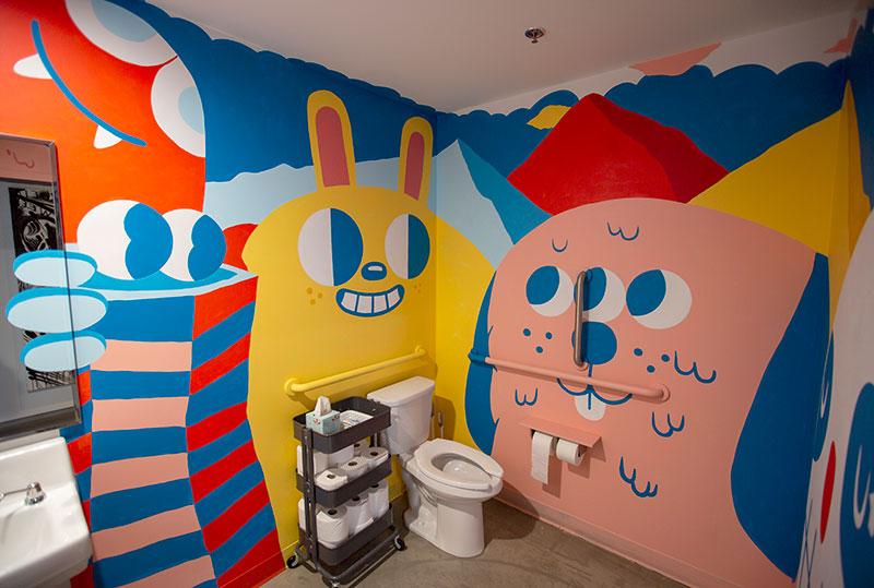 Mural by Blake Jones in one of our bathrooms