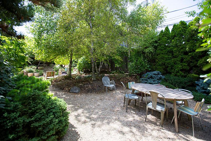 Our spacious outdoor garden