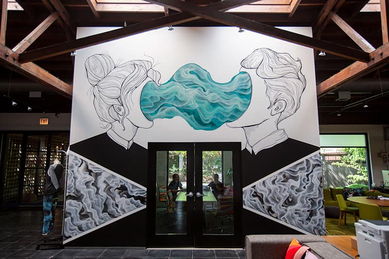 Mural by (sub)urban warrior above our main conference room