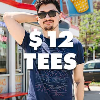 All men's tees $12!!!