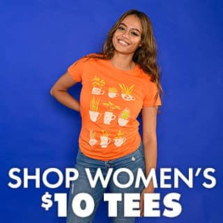 Shop $10 Women's Tees