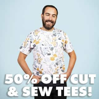 Shop Men's Cut & Sew Tees 50% Off