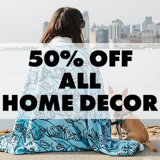 50% off all home decor