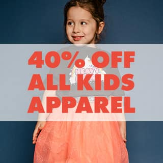 40% off all kids & babies apparel