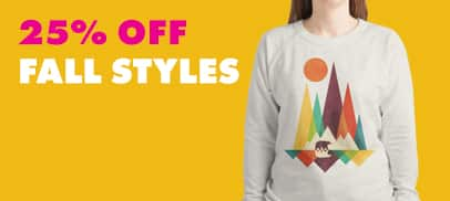 25% Off Fall Styles