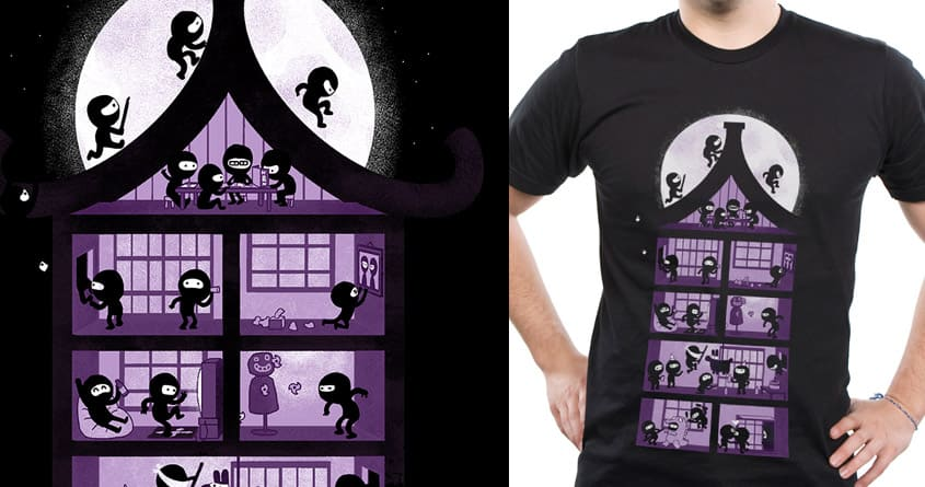 A House Full of Ninjas by queenmob on Threadless