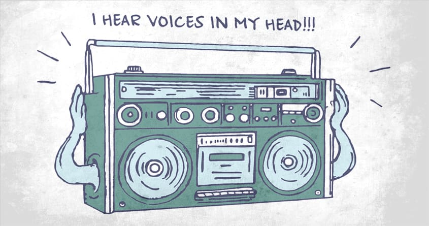 I Hear Voices In My Head by ArTrOcItY on Threadless