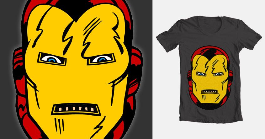 vintage iron-man face 2 by vectormz on Threadless