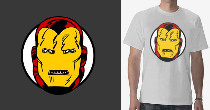 vintage iron-man face 3 by vectormz on Threadless