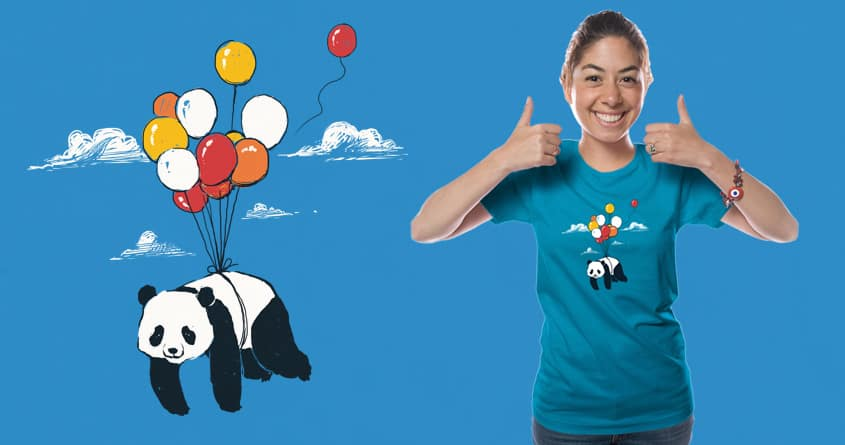Flying Panda by messing on Threadless