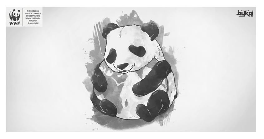 Panda Loves Earth by bykai on Threadless