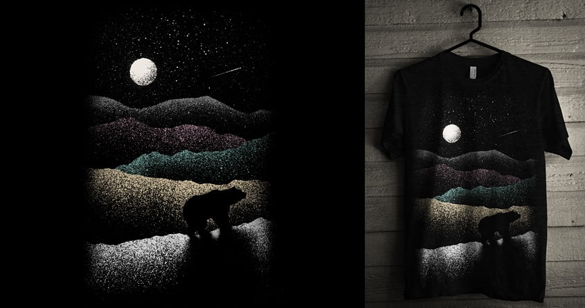 Wandering Bear by speakerine on Threadless