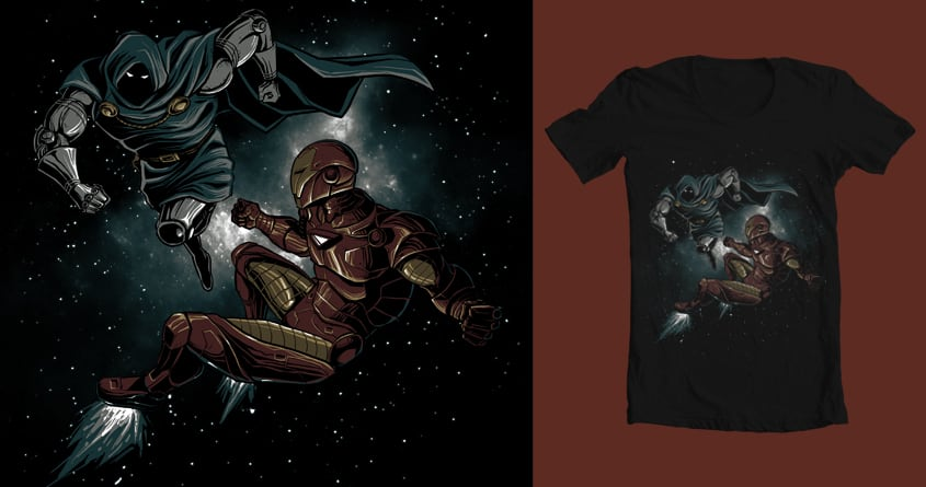 ironman vs doctor doom by ronisaptoni on Threadless