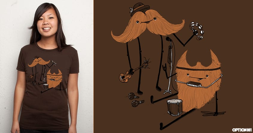 Moustache Meets Beard by anwarrafiee on Threadless