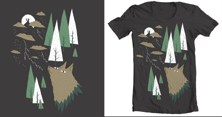two wolves by louisroskosch on Threadless
