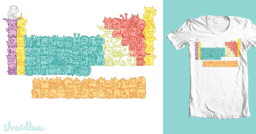 Periodic Table of Monsters by hellofromthemoon on Threadless