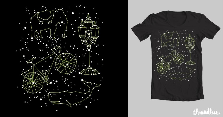 Whales in the sky by hellofromthemoon on Threadless