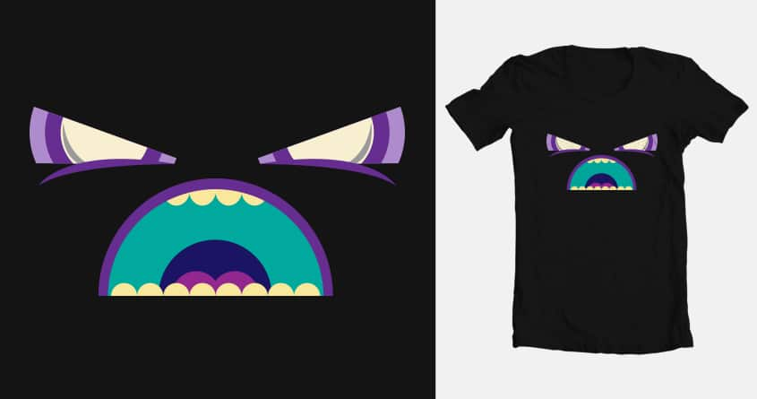 Angry monster by franciscovaldes on Threadless