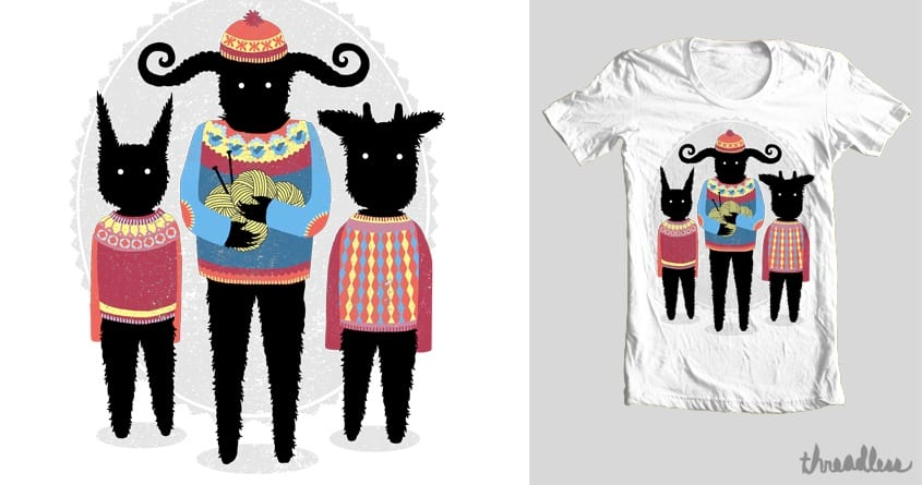 Nightmare Knitting Party by hellofromthemoon on Threadless
