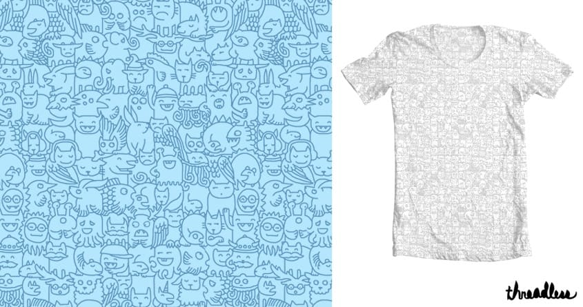 Monster shirt of monsters by hellofromthemoon on Threadless