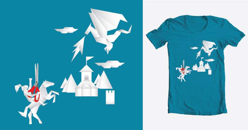 Quest of the Paper Knight by tckian on Threadless