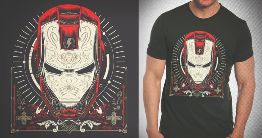 IRON MASK by Quique Ruiz on Threadless