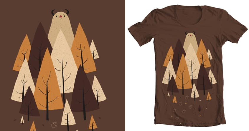 a monster hiding in the woods. by louisroskosch on Threadless