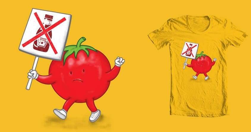 Tomato Protest by hodo on Threadless