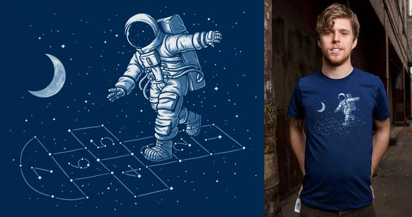 Astronaut Hopscotch by ben chen on Threadless